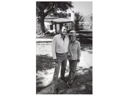 The Reagans at Rancho del Cielo, 1976