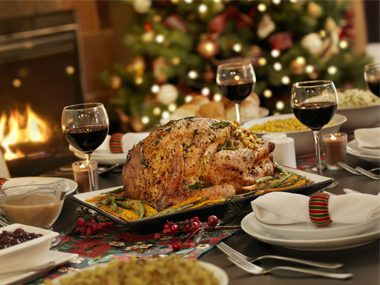 holiday eating meal