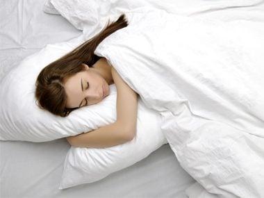 sleeping on pillow