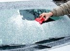 Scrapping Icy windshields