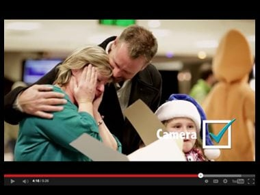 Westjet surprises customers with presents