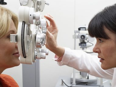 eye doctor exam