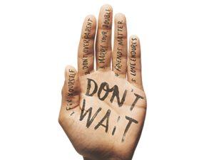 don't wait hand