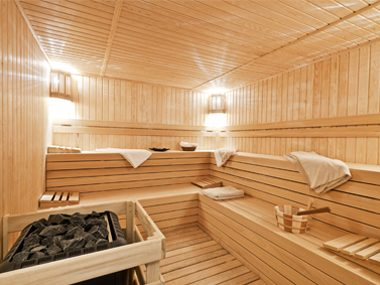 Sit in a sauna.