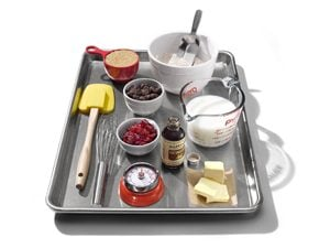 tray of baking supplies