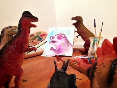 dinosaurs painting picture