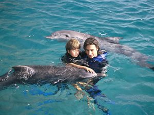 man child dophins