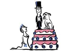 bride and groom cartoon