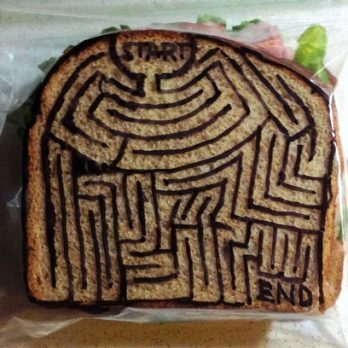 This Dad's Sandwich-Bag Art Is Unbelievably Awesome