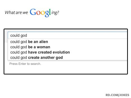 funny google searches god