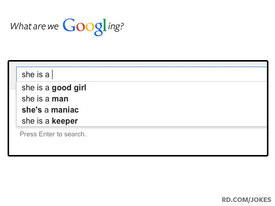 funny google searches she is