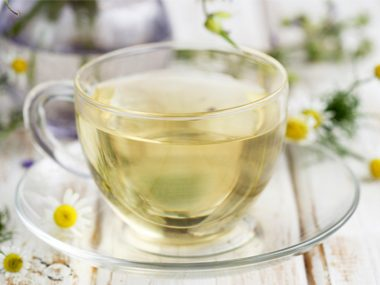 Try to drink three cups of chamomile tea a day when you're feeling anxious