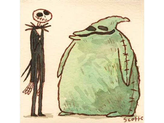 nightmare before christmas illustration