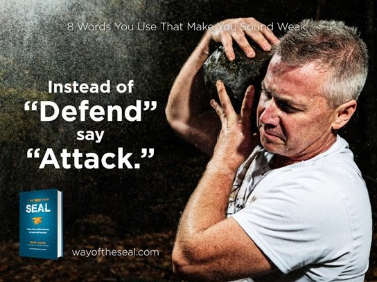 "Instead of ""defend"""