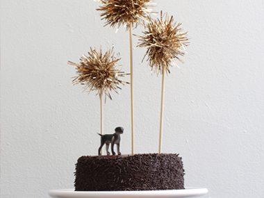 Pom-Pom Cake Toppers