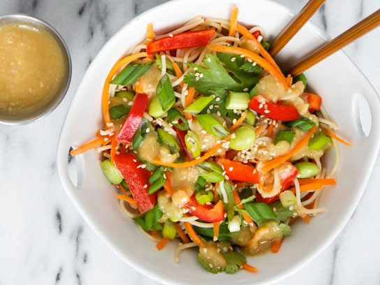 Empowered Noodle Bowl, Two Ways: Thai Peanut and Orange-Maple Miso