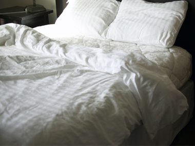 Wash all your bedding in very hot water every week.