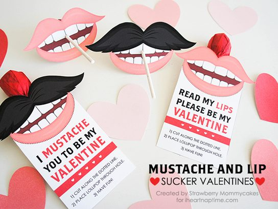 valentine's day cards mustaches