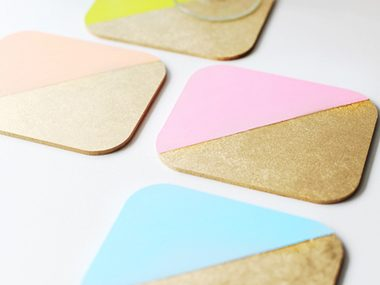 Color-Blocked Coasters