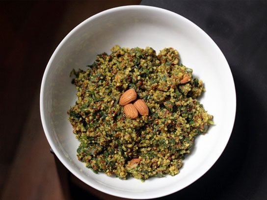 Curried Quinoa Porridge with Spinach