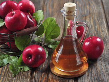 Sip apple cider vinegar.