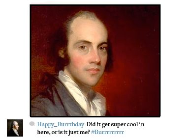 Aaron Burr, 20