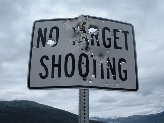 funny signs target shooting