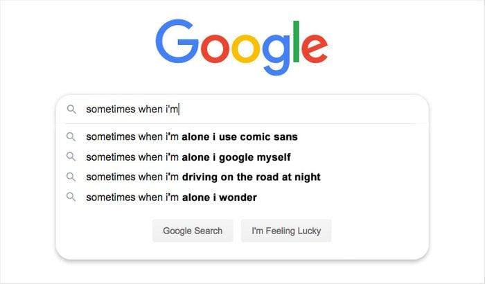 google seach auto fill suggestions