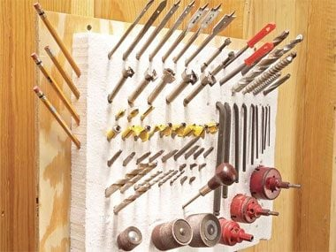 Garage organization tips: Keep tools in one place.