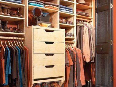 Closet organization tip: Add shelving.