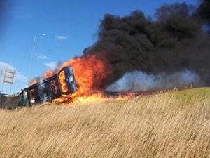 everyday heroes burning car