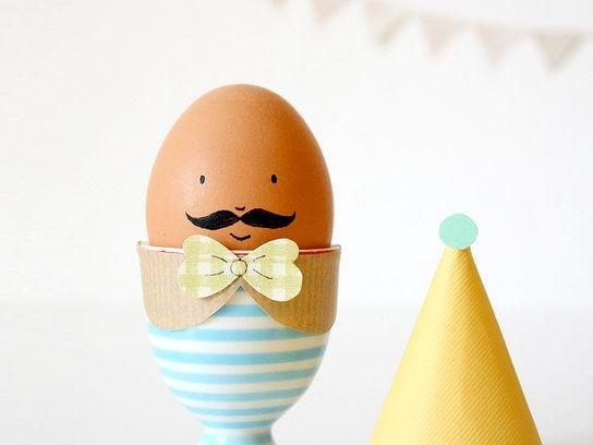 Mustache Eggs