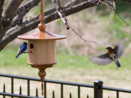 Wood-Turned Birdhouse