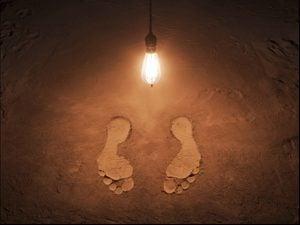foot print in mud