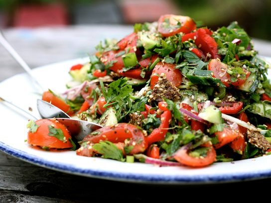 Fattoush Salad with Za'atar