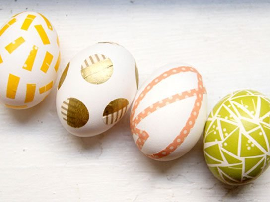 Unique easter egg decorating ideas readers digest washi tape eggs negle Image collections
