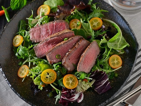 Steak Salad with Mint-Scallion Dressing