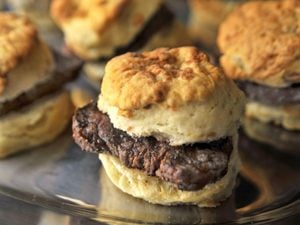 biscuits with steak