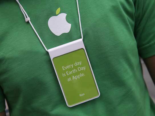 Apple gives the Earth a hug.