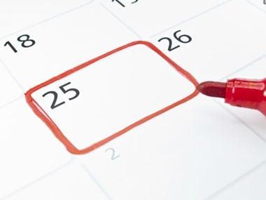 circled calendar date