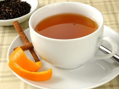 Make fresh orange peel tea