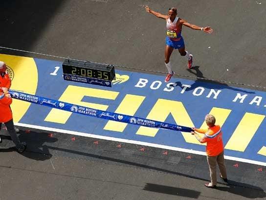 Instant history at the Boston Marathon