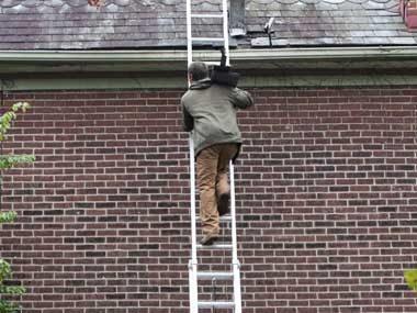 Climb ladders carefully