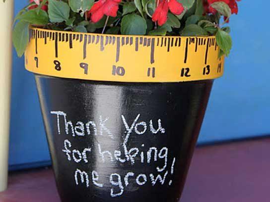 teachers gifts ruler pot