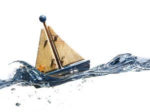 little boat on water