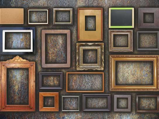 garage sale picture frames