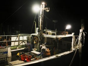 boat at night