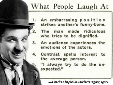 Laugh at others (within reason)
