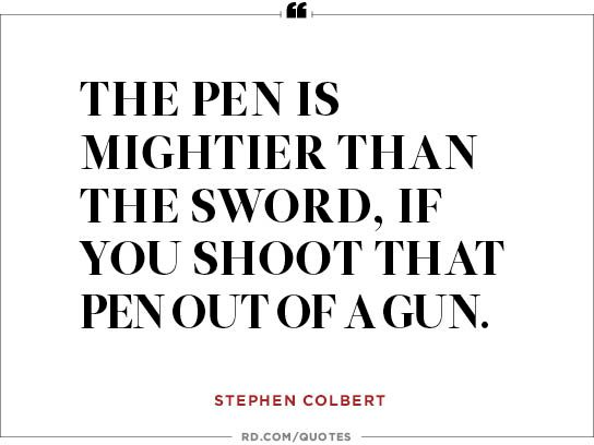 The pen is...