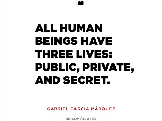 All human beings have three lives: